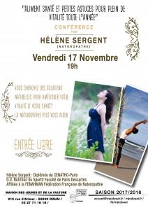 Affiche Conférence naturotherapie novembre 2017